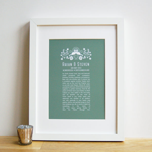 Personalised Wedding Anniversary Vow Print - Ant Design Gifts
