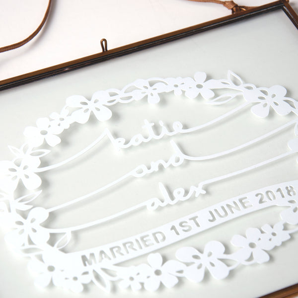 papercut gift for bride and groom