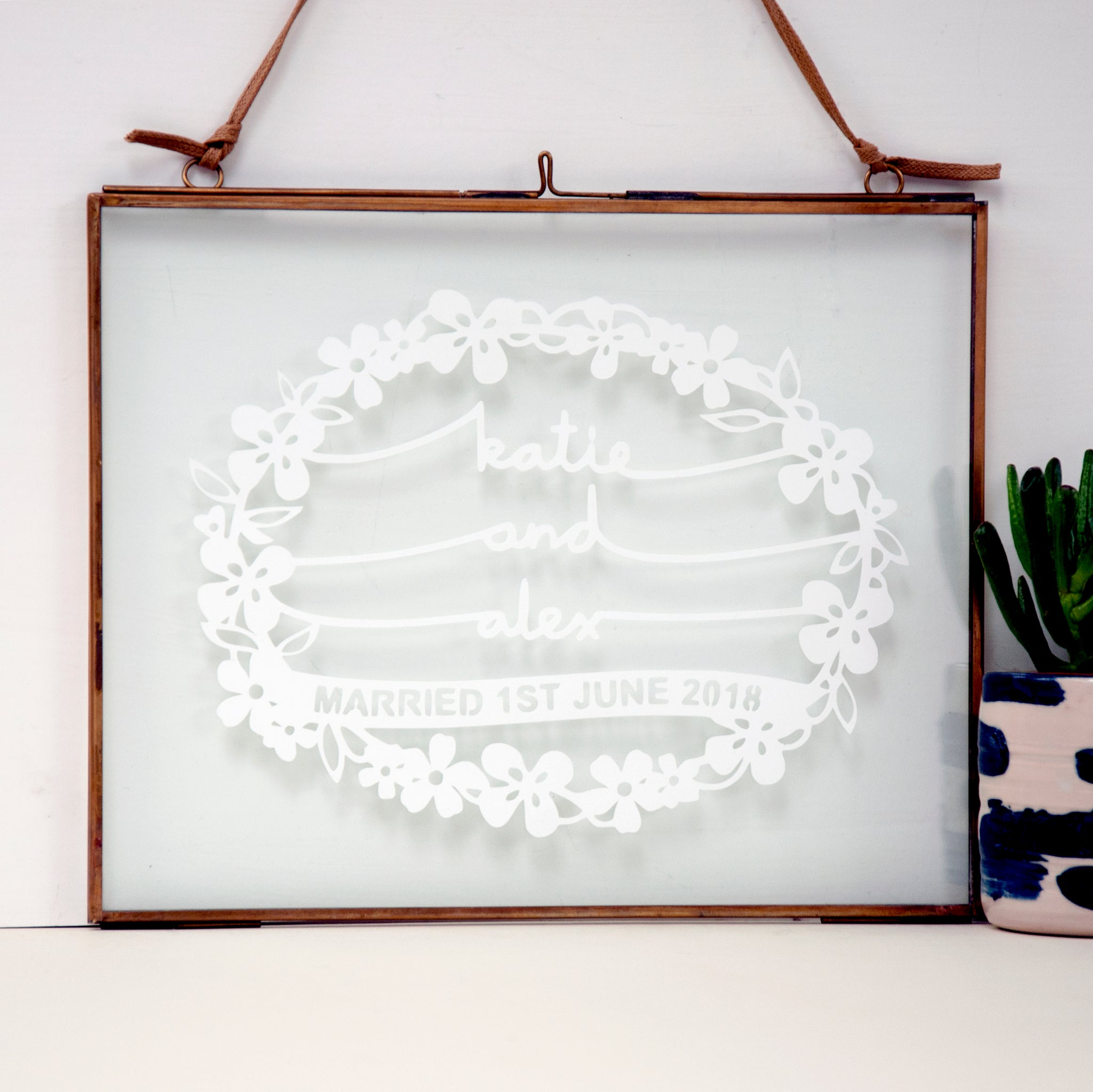 framed wedding gift