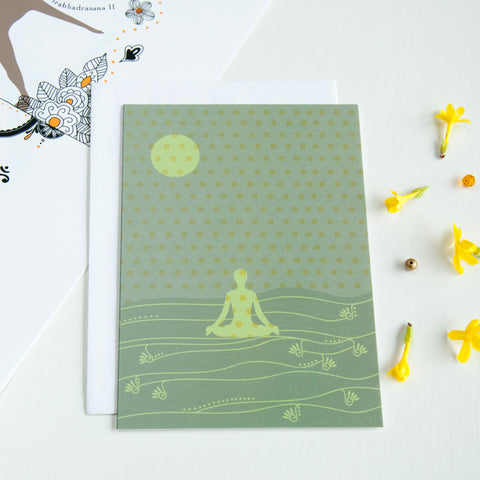 Yoga Card in Olive - Ant Design Gifts