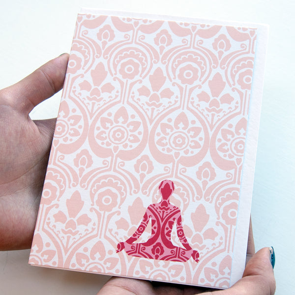 Yoga Card in Pink - Ant Design Gifts