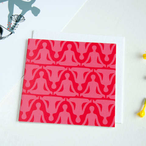 Yoga Card in Red - Ant Design Gifts