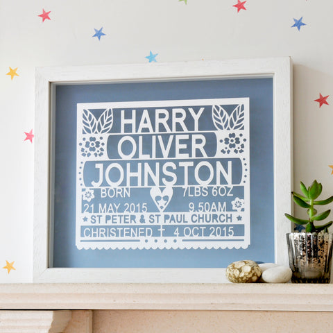 Christening Gift Wall Art - Ant Design Gifts
