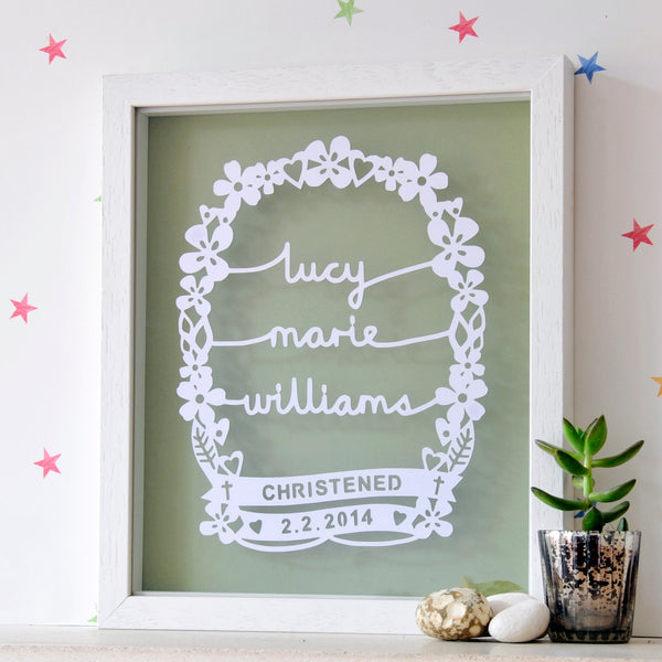 Personalised Christening Gift for Girl - Ant Design Gifts