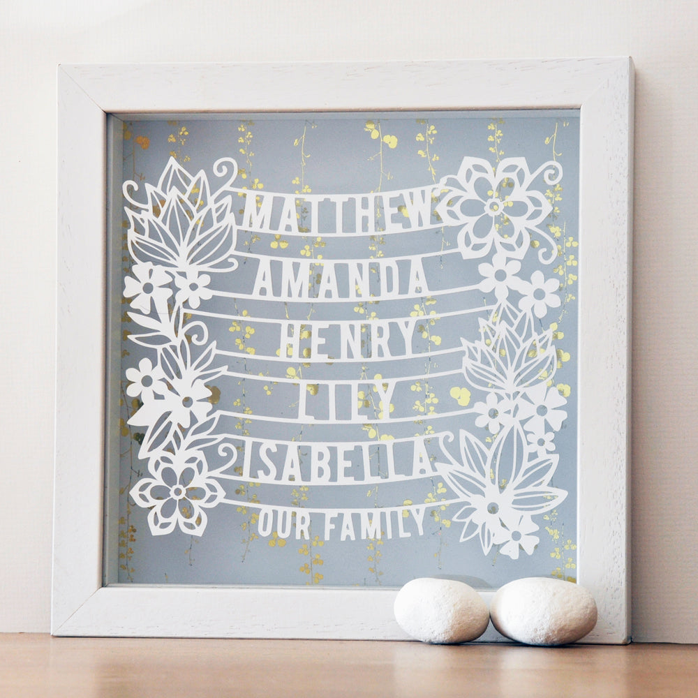 Personalised Family Tree Gift with Gold - Ant Design Gifts