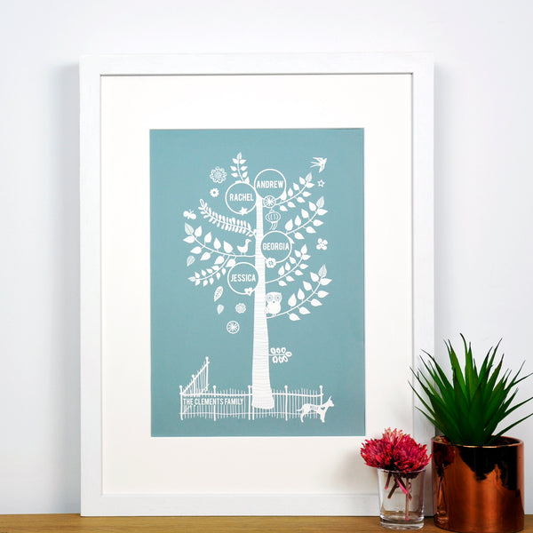 Personalised Family Tree Print - Ant Design Gifts