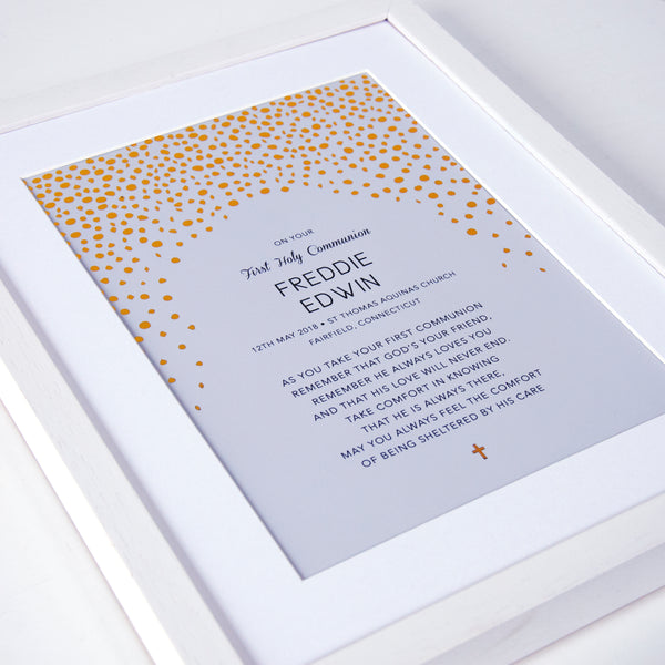 baptism gift with gold