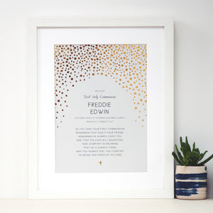 Personalised Baptism Gift with Gold