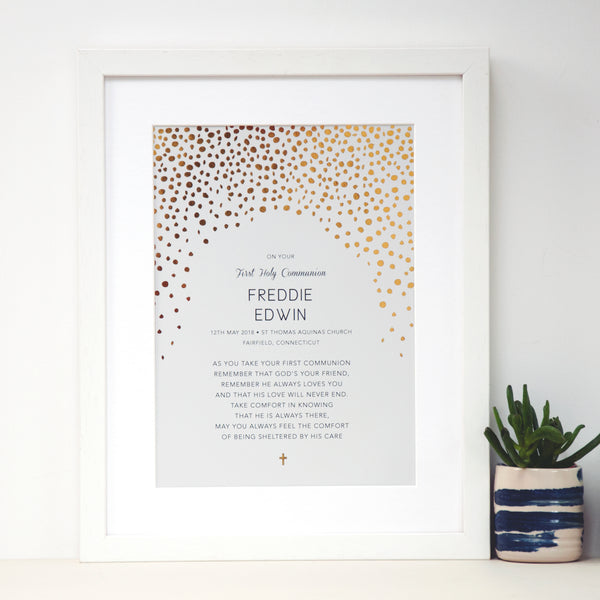 Personalised Baptism Gift with Gold - Ant Design Gifts