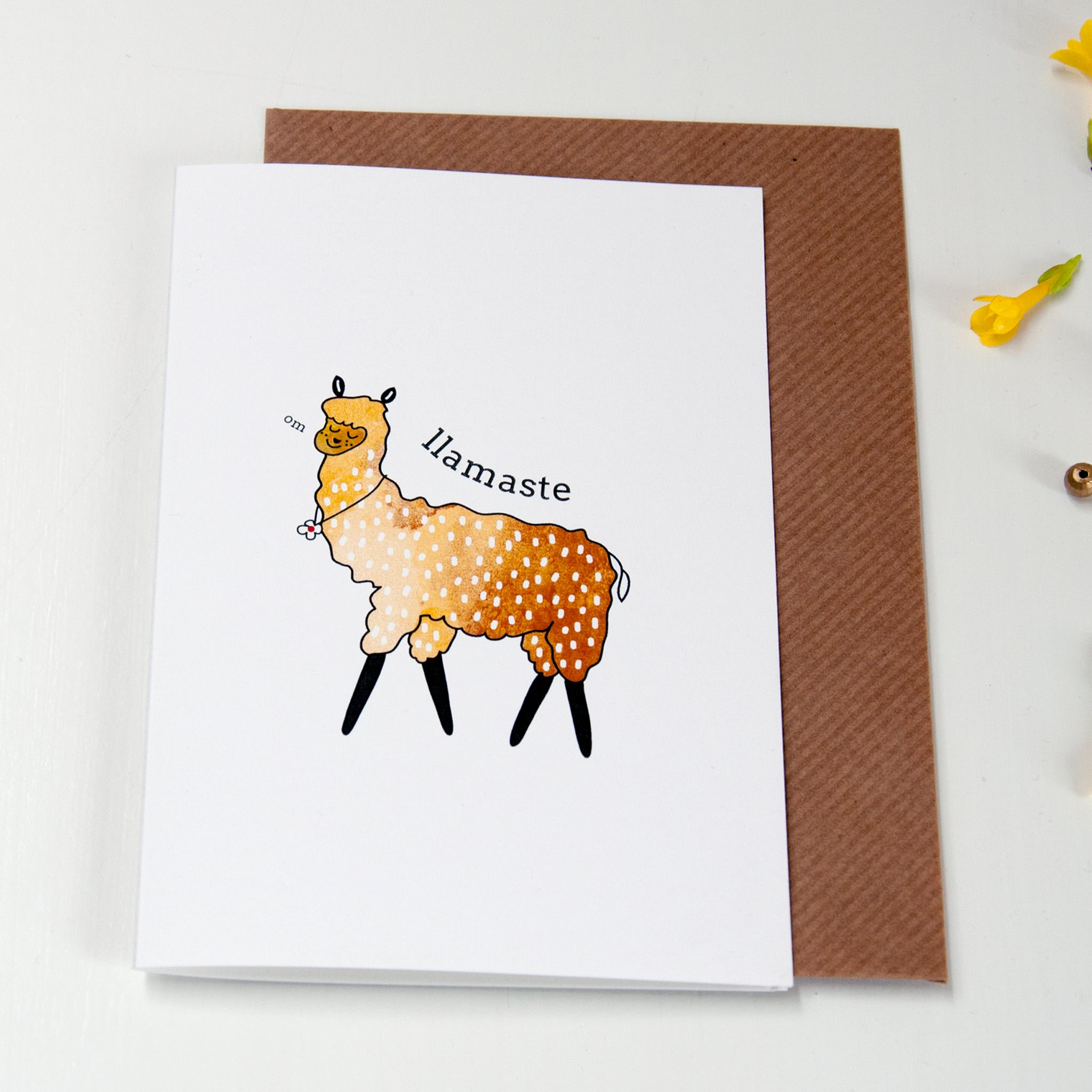Yoga Llamaste Greeting card - Ant Design Gifts
