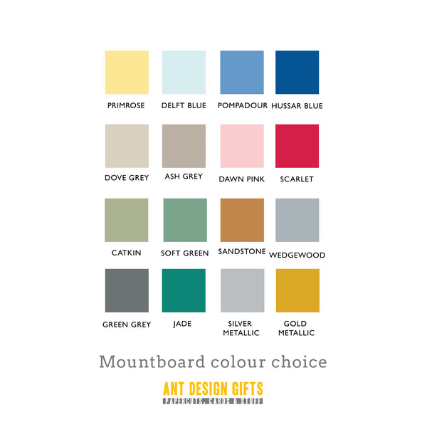 antdesigngifts.co.uk Mountboard colour chart