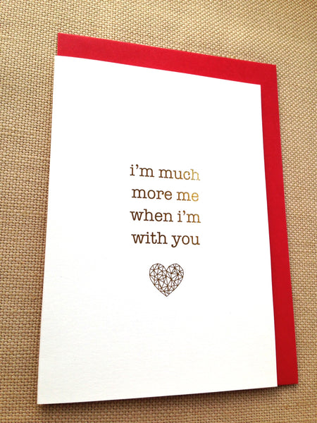 Valentines Card with Gold Foil - Ant Design Gifts