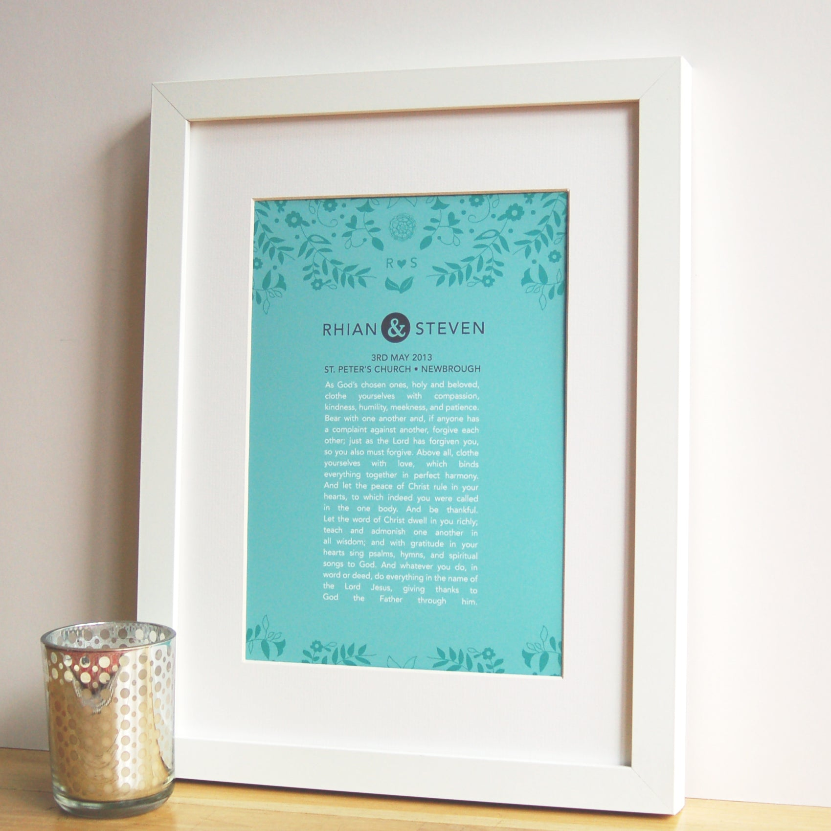 wedding vow print
