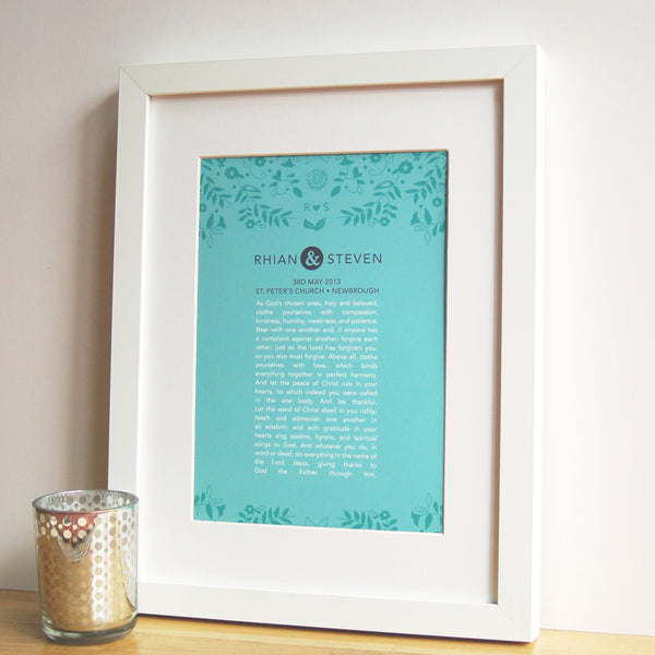 Personalised Wedding Vow Print - Ant Design Gifts
