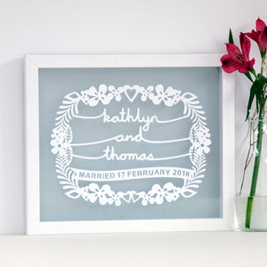 Personalised wedding gift