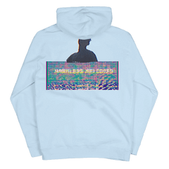 HARMLESS MELODIES BLUE PULLOVER HOOD