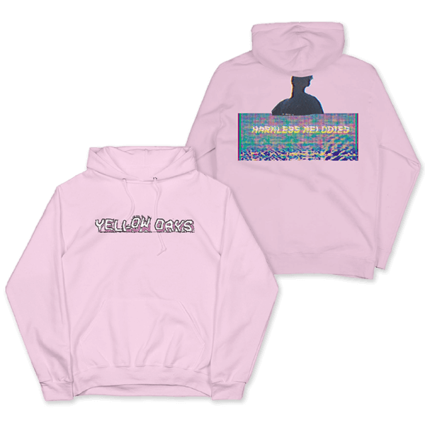 HARMLESS MELODIES PINK PULLOVER HOOD