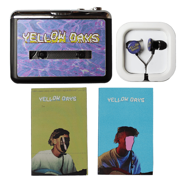 YELLOW DAYS WALKMAN + HEADPHONES + 2 x CASSETTES