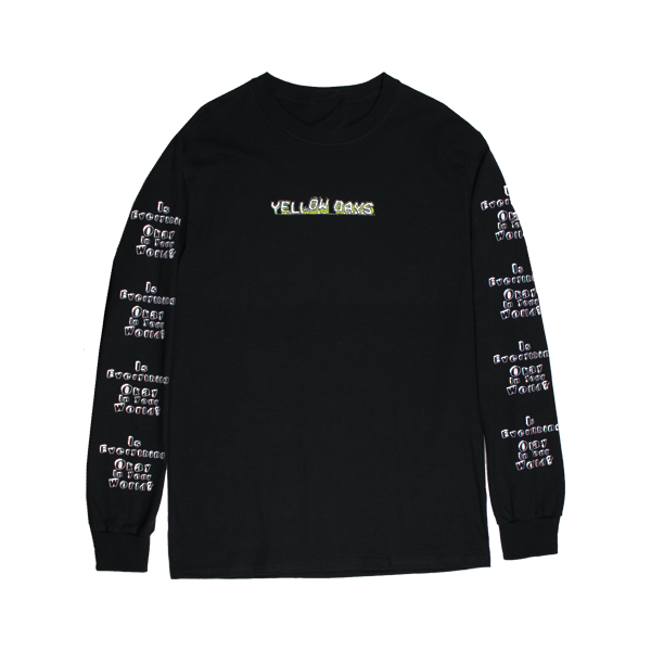 EVERYTHING OKAY BLACK LONGSLEEVE T-SHIRT