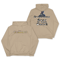 IS EVERYTHING OKAY BEIGE PULLOVER HOOD