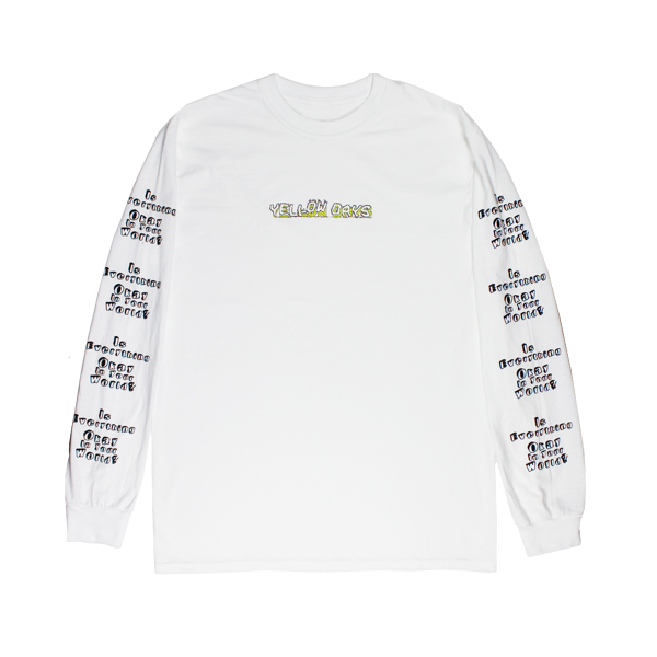 EVERYTHING OKAY WHITE LONGSLEEVE T-SHIRT