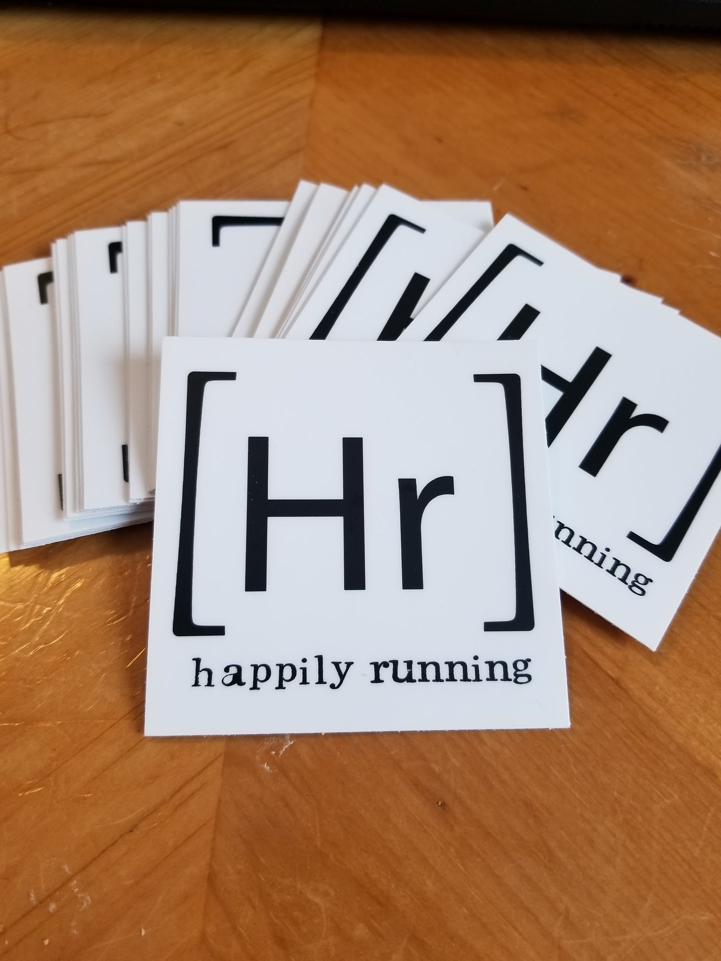 Happily Running logo sticker