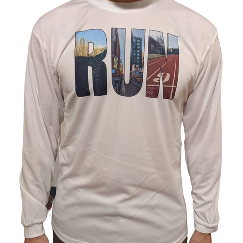 RUN- anywhere Shirt - Happily Running