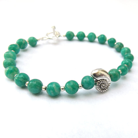 Russian Amazonite Beaded Bracelet