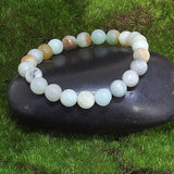 Amazonite Healing Bracelet on Black Rock