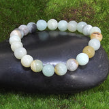 Amazonite Healing Bracelet on Black Rock 2