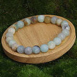Amazonite Healing Bracelet on Wood
