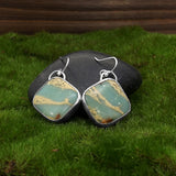 Aqua Terra Jasper Earrings by Eluna Jewelry