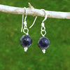 Blue Goldstone Healing Earrings - Eluna Jewelry