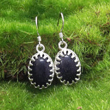 Blue Goldstone and Sterling Silver Earrings by Eluna Jewelry Designs