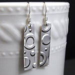 Circle Sterling Silver Drop Earrings