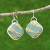 Aqua Terra Jasper Gesmtone Earrings - Eluna Jewelry