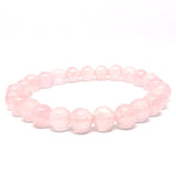 Rose Quartz Gemstone Healing Bracelet for Unconditional Love - Eluna Jewelry