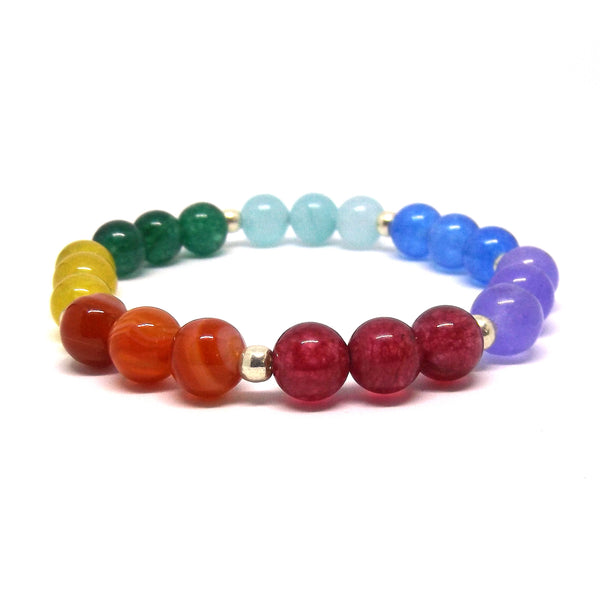 The Seven Chakra Gemstone Healing Bracelet for Balancing Your Chakra - Eluna Jewelry