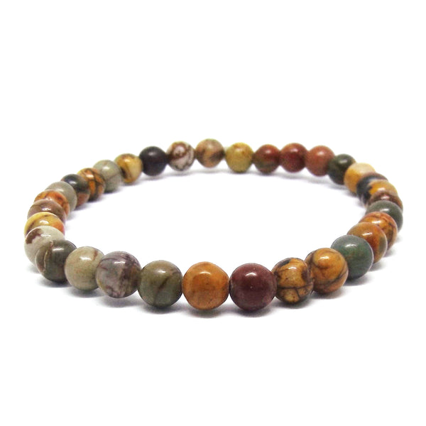 Small Bead Cherry Creek Jasper Spiritual Stretch Bracelet