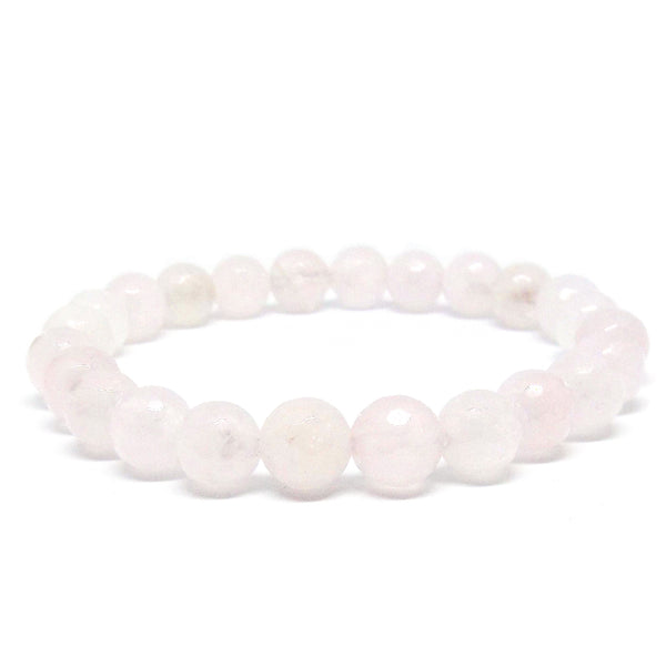 Pale Rose Quartz Gemstone Healing Bracelet for Unconditional Love - Eluna Jewelry