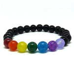 The Chakra Balancing Stretch Bracelet for Protection and Dealing with Grief, Energy Healing Bracelet