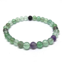 Green and Purple Fluorite Healing Bracelet