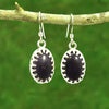 Blue Goldstone Gemstone Earrings - Eluna Jewelry