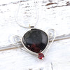 Eudialyte Gemstone Necklace in Sterling Silver - Eluna Jewelry