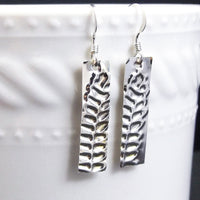 Fern Leaf Sterling Silver Drop Earrings - Eluna Jewelry
