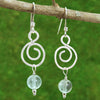 Fluorite Spiral Healing Earrings - Eluna Jewelry
