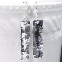 Hammered Sterling Silver Drop Earrings