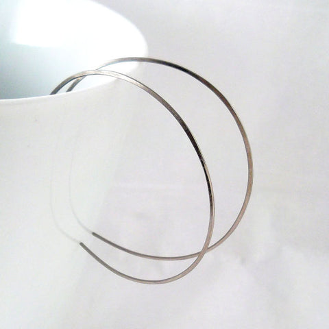 Large Niobium Hoop Earrings