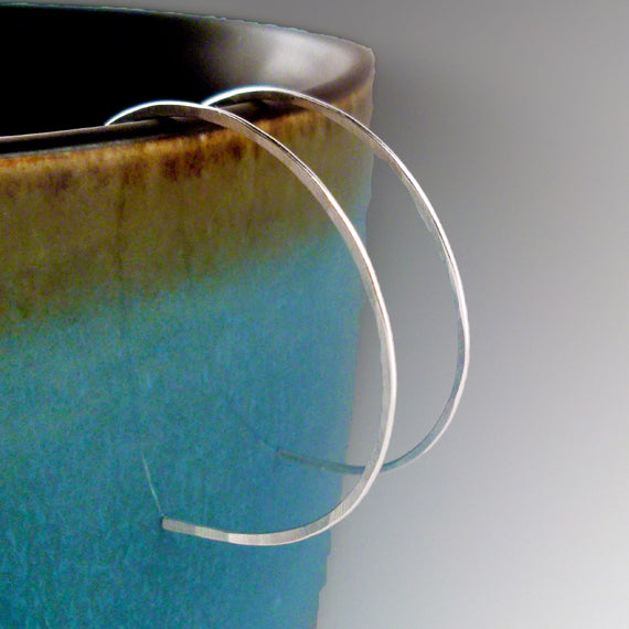 Medium Sterling Silver Hoop Earrings - Eluna Jewelry