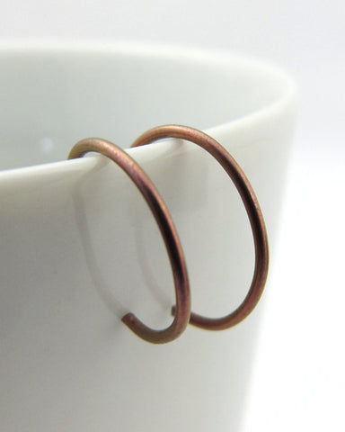 Pink Niobium Hoop Earrings